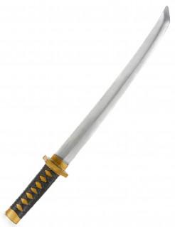 Katana Ninja-Schwert Halloween-Accessoire silber-schwarz 50 cm