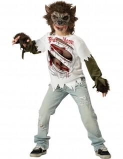 Werwolf Halloween-Kostüm für Kinder weiss-braun