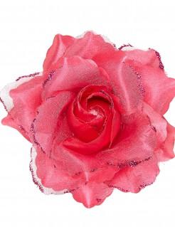 Haarspange mit Rose pink