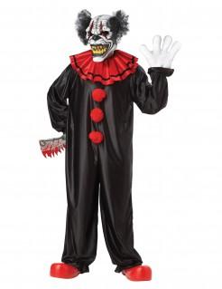 Grausamer Horror-Clown Horrorzirkus-Kostüm schwarz-rot-weiss