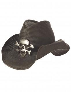 Totenkopf-Cowboyhut dunkelbraun