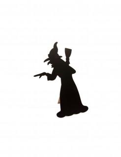 Tischdeko-Hexe schwarz 24,5cm