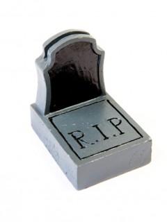 Kartenhalter für Namenschilder an Halloween schwarz-grau