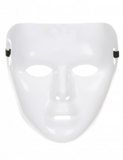 Phantom Karneval-Maske Anonymous weiss