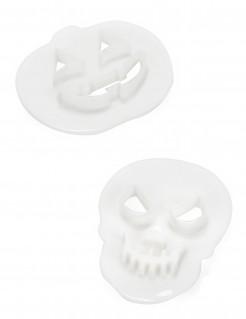 Halloweenausstechförmchen Totenkopf und Kürbis 2 Stück