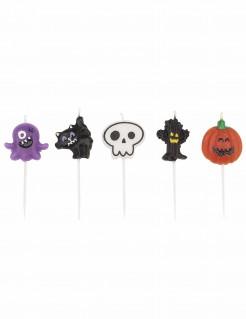 Halloween-Kerzenset 5 Stück bunt 7cm