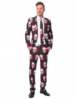 Blutige Totenschädel Suitmeister Herren-Anzug schwarz-weiss-rot