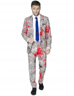 Zombie-Anzug von Opposuits™ grau-rot