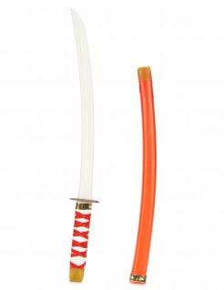 Ninja-Schwert für Kinder Spielzeug-Katana weiß-rot