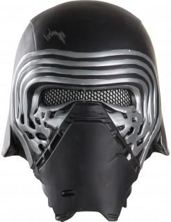 Kylo Ren™ Star Wars Episode VII™ Halbmaske für Erwachsene schwarz-silber 26x22 cm