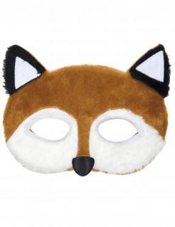Gruselige Fuchs-Maske Halloween-Maske braun-weiss
