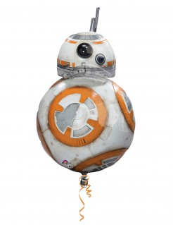 Aluminium-Ballon BB-8 Star Wars™ Deko weiss-orange
