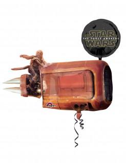 Star Wars VII™-Aluminiumballon Raumschiff Dekoration braun-rot-schwarz