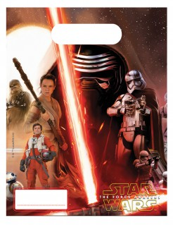 Star Wars VII™ Geschenktüten 6 Stück bunt 23x16,5cm