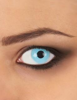 Gletscherblaue Kontaktlinsen blau