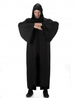 Halloween Vampir Mittelalter Kutte mit Kapuze schwarz