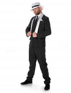 Gangster-Kostüm 20er-Jahre für Herren schwarz-weiss