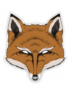 Furchteinflößende Fuchs-Maske Tier-Maske Halloween braun-weiss