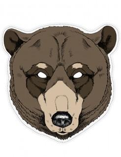 Grauenerregende Bär-Maske Halloween-Maske braun