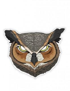Schaurige Eulen-Maske Tier-Maske Halloween braun