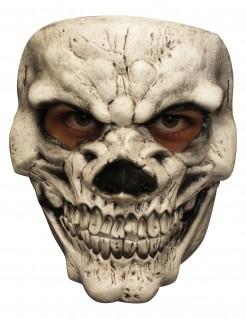 Skelettmaske Höllengrinsen für Erwachsene - Hand bemalt beige