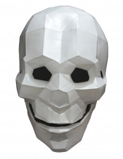 Maske Skelett Low Poly - Hand bemalt