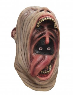 Animierte Monster Maske Kannibalen Maske beige-rot