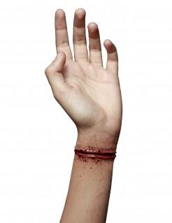 Handgelenk-Schnittwunde Ritzwunde rot 11x2cm