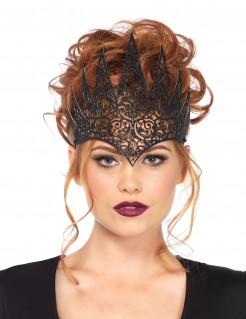 Dunkle Königin Krone Kostümaccessoire schwarz