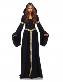 Keltische Hexe Damenkostüm Pagan schwarz-gold