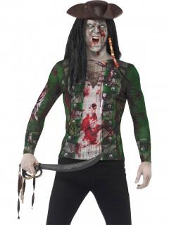 Zombiepirat Horror Longsleeve bunt