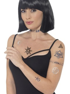 Fake Tattoos Halloween bunt