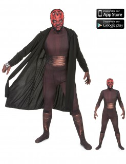 Star Wars Darth Maul Digital Morphsuit Lizenzware schwarz-rot