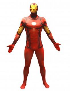 Iron Man™-Kostüm Morphsuit™ für Erwachsene rot-gelb-schwarz