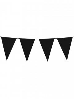 Wimpel-Girlande Party-Deko schwarz 10m