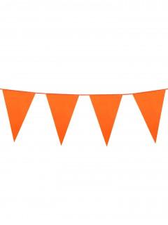 Partygirlande mit Wimpeln orange 10m