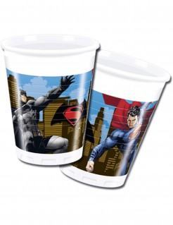 Batman vs. Superman™-Trinkbecher Partydeko 8 Stück bunt 200ml