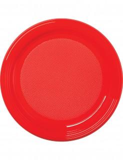 Partyteller-Set für Halloween 30 Stück rot