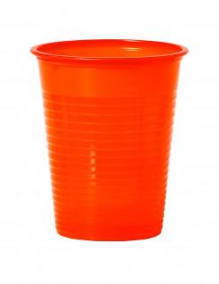 Party Becher Trink-Set 50 Stück orange 200ml