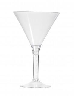 Transparentes Kunststoffglas-Set 6 Stück 14cm