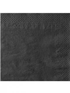 Papierservietten Servietten Set 50 Stück schwarz 38x38cm