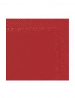 Papierservietten 50 Stück rot 38x38cm
