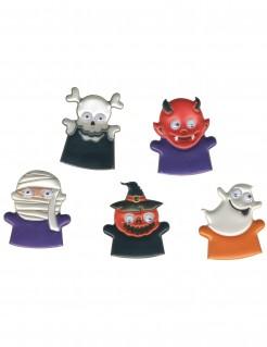 Halloween-Fingerpuppen für Kinder Partyzubehör 5 Stück bunt