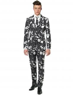 Halloween-Motivanzug Suitmeister-Anzug schwarz-weiss