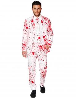 Blutiger Anzug für Herren Opposuits™-Anzug Halloween weiss-rot