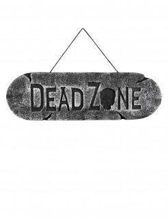 Dead Zone Schild Halloween-Deko grau 48x15cm