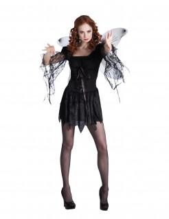 Dunkler Engel Todesengel-Damenkostüm schwarz