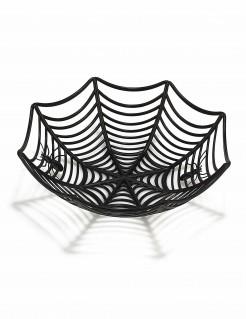 Spinnennetz-Schale Halloween Deko schwarz 27cm