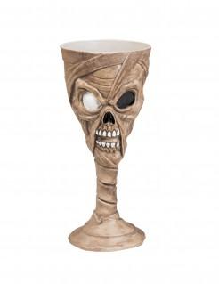 Halloween-Kelch Mumie 25 cl braun