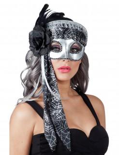 Augenmaske mit Spinnennetz-Design für Damen silber